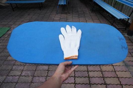 ローラー滑り台 ビート板