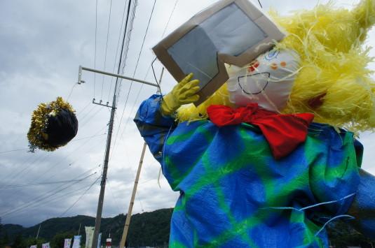 円野町かかし祭り 金環日食