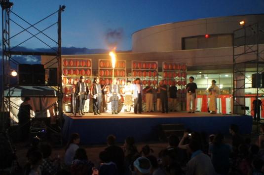 一宮大文字焼き祭り メインステージ 種火