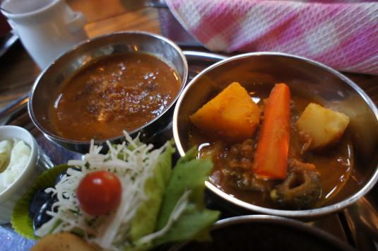 カレー アウル 野菜、チキン