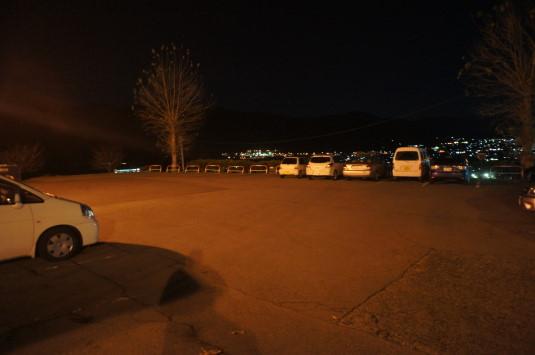 イルミネーション ぶどうの丘 駐車場