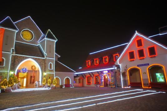 イルミネーション ハイジの村 広場