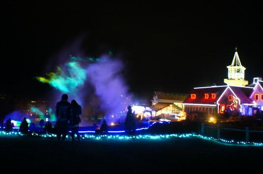 イルミネーション ハイジの村 レーザーショー 引き