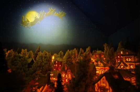 サンタクロースミュージアム 夜空