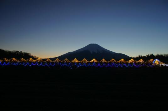 イルミ 山中湖花の都公園 富士山
