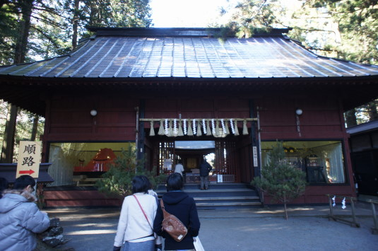 初詣 北口本宮富士浅間神社 諏訪神社