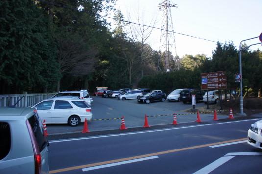 初詣 北口本宮富士浅間神社 駐車場1