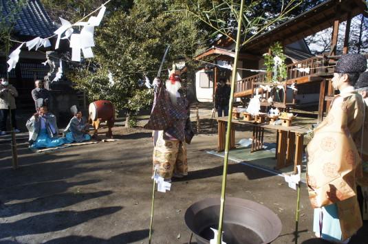 湯立て祭り 美和神社 猿田彦の舞