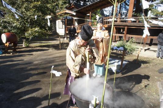 湯立て祭り 美和神社 湯かじ