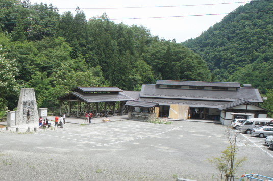 芦安村クライミングウォーク 金山沢温泉