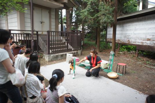菅田天神社 みそぎ祭り 猿回し