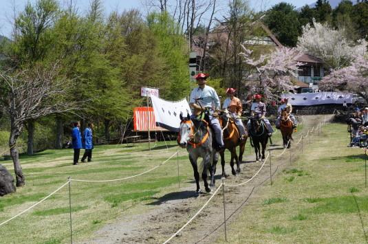 勝山やぶさめ祭り 馬場 登場 練習