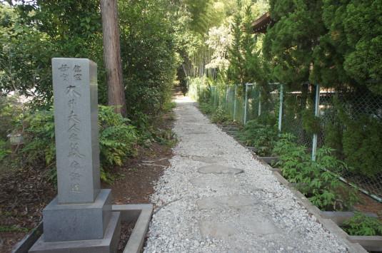 長禅寺 大井夫人の墓 特別参道