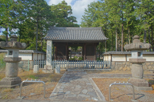 長禅寺 大井夫人の墓 門