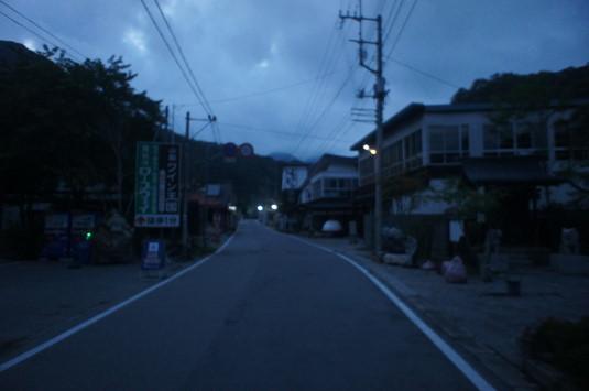 昇仙峡ライトアップ 町 真っ暗
