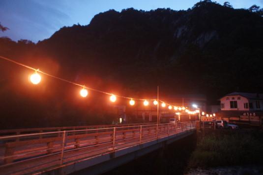 昇仙峡ライトアップ ちょうちん