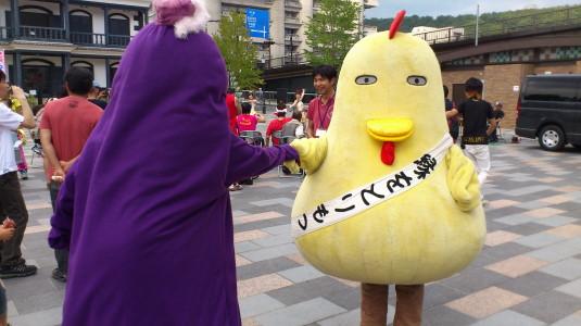 キタグッチ ほっぺちゃん祭り 握手