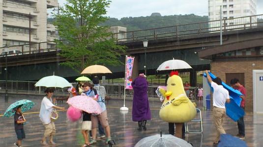 キタグッチ ほっぺちゃん祭り 濡れる
