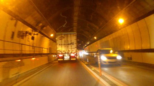 笹子トンネル 対面