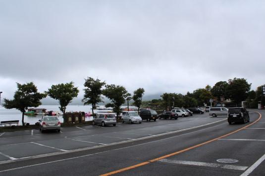 山中明神安産祭り 駐車場
