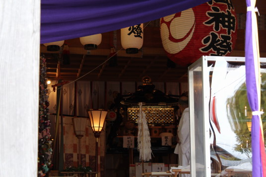 山中明神安産祭り 神輿