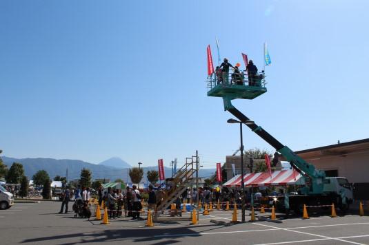 昭和町ふれあい祭り クレーン車