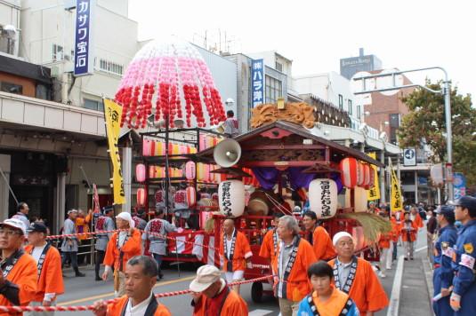 甲府大好き祭り祭り 山車交差