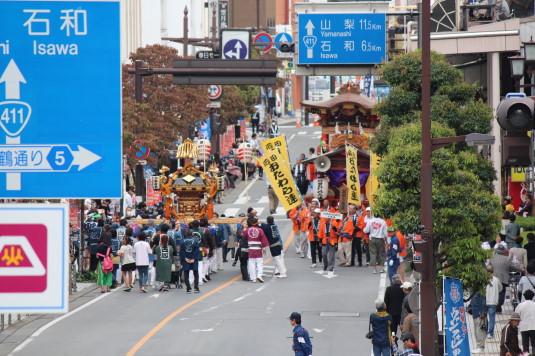 甲府大好き祭り祭り 神輿 遠望