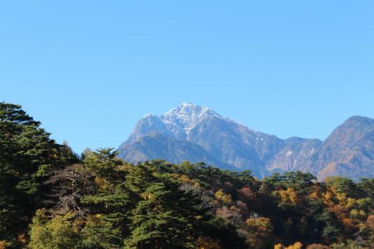 紅葉 石空川渓谷 甲斐駒ケ岳