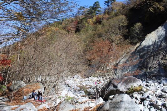 紅葉 石空川渓谷 フォッサマグナ