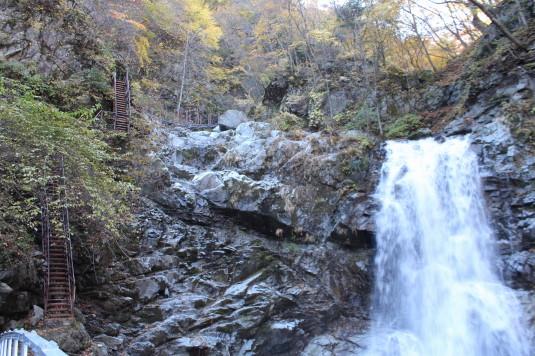紅葉 石空川渓谷 鬼階段