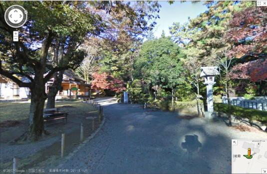 ストリートビュー 武田神社