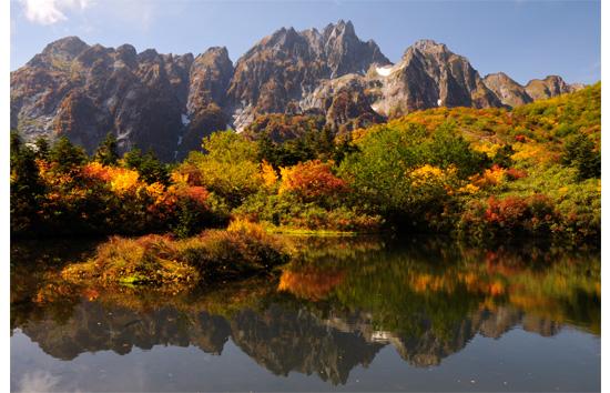 池と八ツ峰