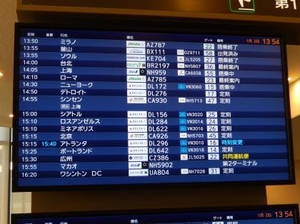 ペルー2014.1成田空港出発案内2