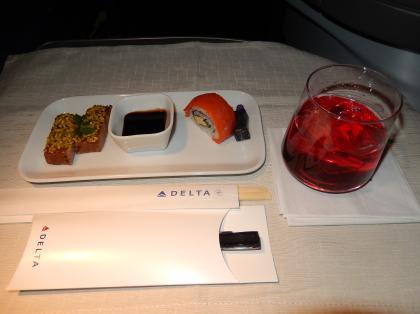 ペルー2014.1デルタ航空アトランタ行機内食1