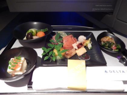 ペルー2014.1デルタ航空アトランタ行機内食2