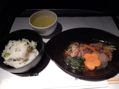 ペルー2014.1デルタ航空アトランタ行機内食3