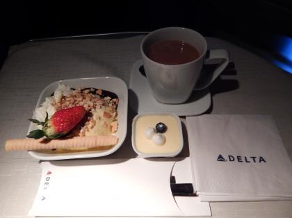 ペルー2014.1デルタ航空アトランタ行機内食4