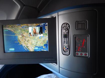 ペルー2014.1デルタ航空アトランタ行機内