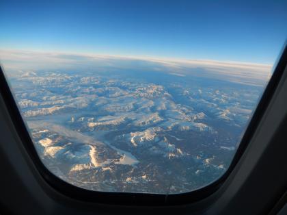 ペルー2014.1デルタ航空アトランタ行機内からの風景