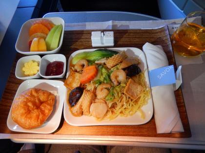 ペルー2014.1デルタ航空アトランタ行機内食5