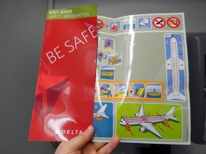 ペルー2014.1デルタ航空リマ行安全のしおり