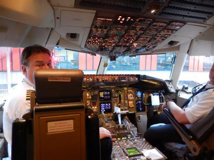 ペルー2014.1デルタ航空リマ行コックピット