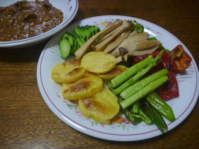 焼き野菜とカレー
