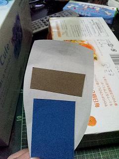 反転画像の裏にそれぞれの色が来るように置く