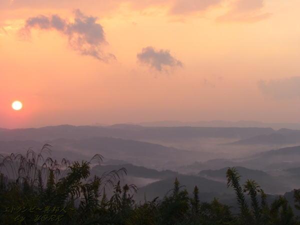 4903夕日と雲海121028
