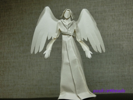 切り折り紙 天使