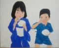 「7歳の夏祭り」塗り3回目