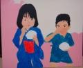 「7歳の夏祭り」塗り4回目