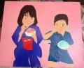 「7歳の夏祭り」塗り6回目